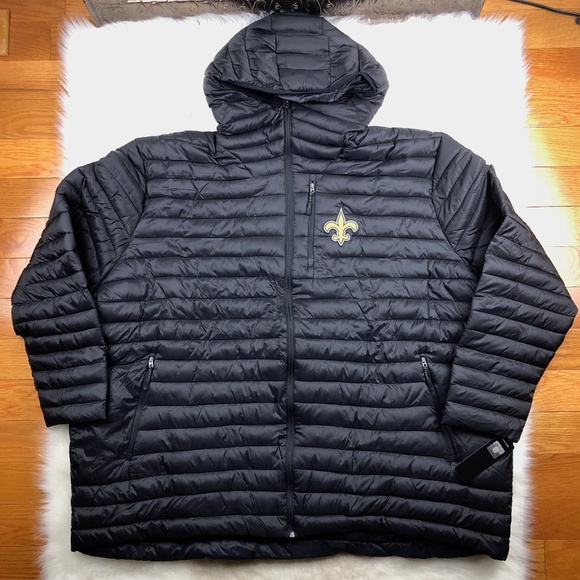 online store 43ed3 93260 New Orleans Saints Full Zip Hooded Puffer Jacket Boutique